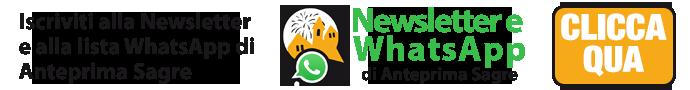 Anteprima Sagre Newsletter e Whatsapp